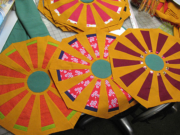 Circular fans cut to be octagons.