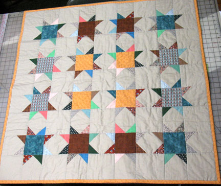 Scrappy Snowball Star Quilt