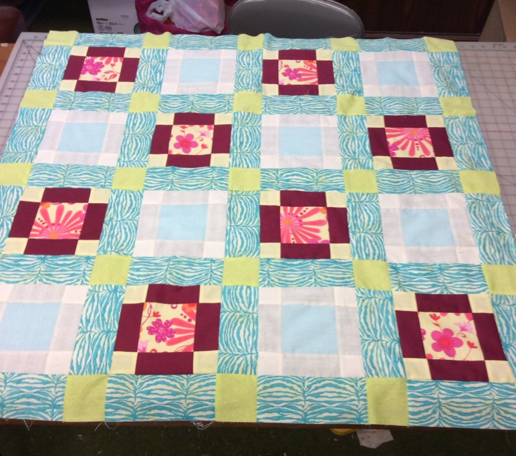 Stray Block baby quilt